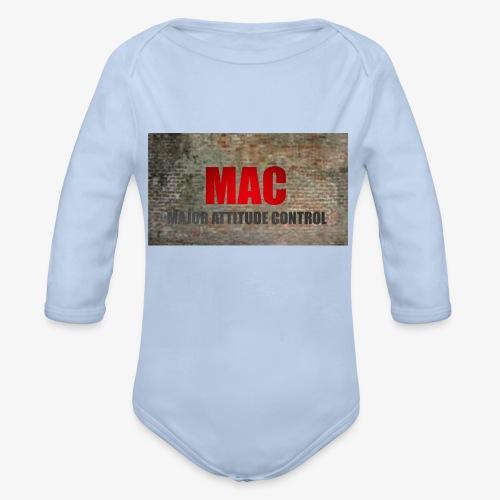 MAC LOGO - Organic Long Sleeve Baby Bodysuit