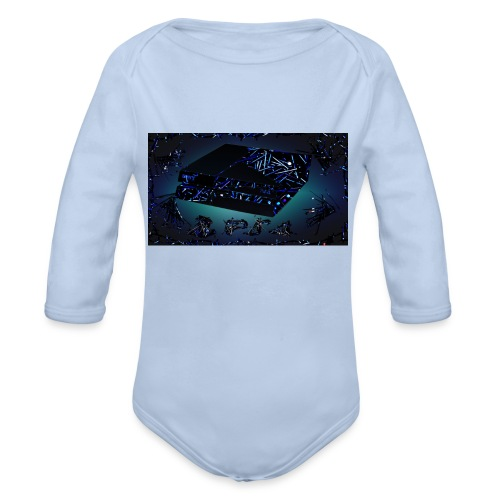 ps4 back grownd - Organic Long Sleeve Baby Bodysuit