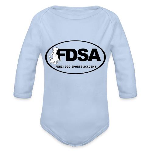 FDSA BLACKWHITE LOGO 2018 - Organic Long Sleeve Baby Bodysuit
