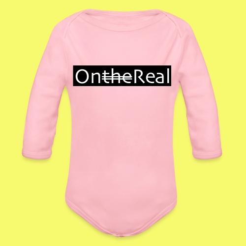 OntheReal coal - Organic Long Sleeve Baby Bodysuit
