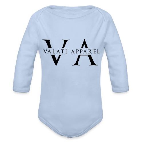VA Strikethrough - Organic Long Sleeve Baby Bodysuit