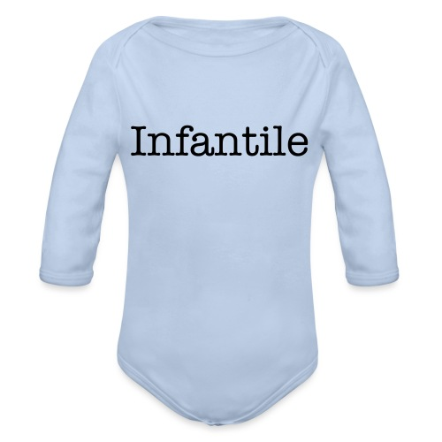 INfantile Baby Shower - Organic Long Sleeve Baby Bodysuit