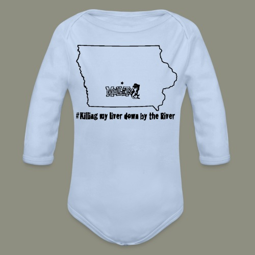 river black - Organic Long Sleeve Baby Bodysuit