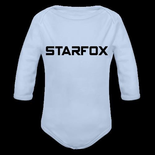 STARFOX Text - Organic Long Sleeve Baby Bodysuit
