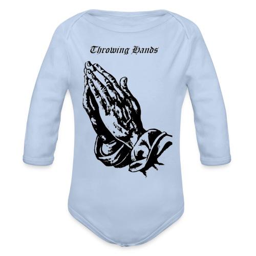 throwinghands - Organic Long Sleeve Baby Bodysuit