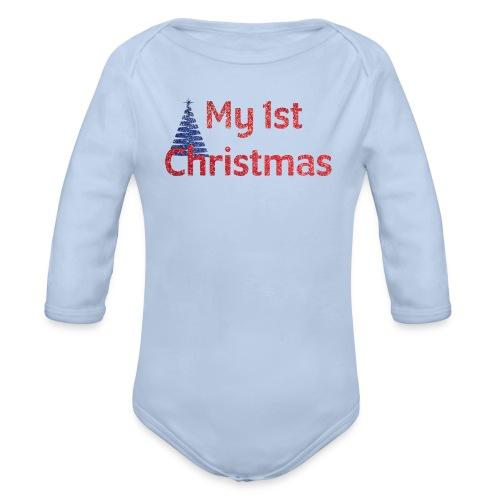 My 1st Christmas | Baby's First Christmas - Organic Long Sleeve Baby Bodysuit
