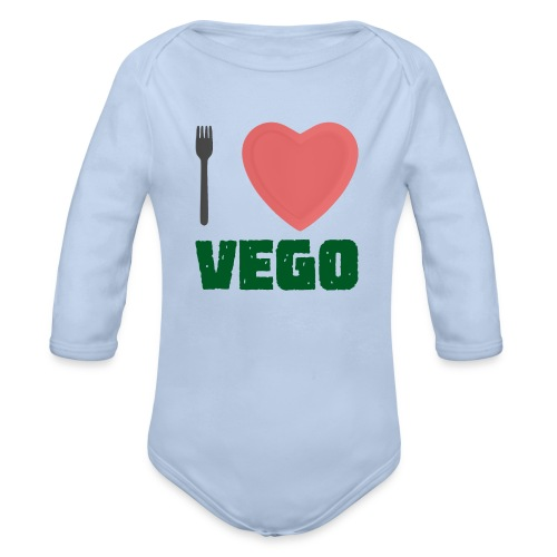 I love Vego - Clothes for vegetarians - Organic Long Sleeve Baby Bodysuit