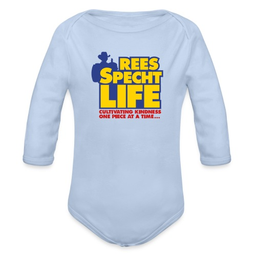 smallvectorsimple - Organic Long Sleeve Baby Bodysuit