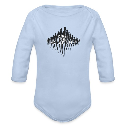 one as individuals - Organic Long Sleeve Baby Bodysuit