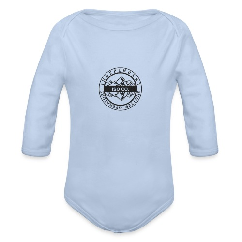 ISO Co. Black Classic Emblem - Organic Long Sleeve Baby Bodysuit