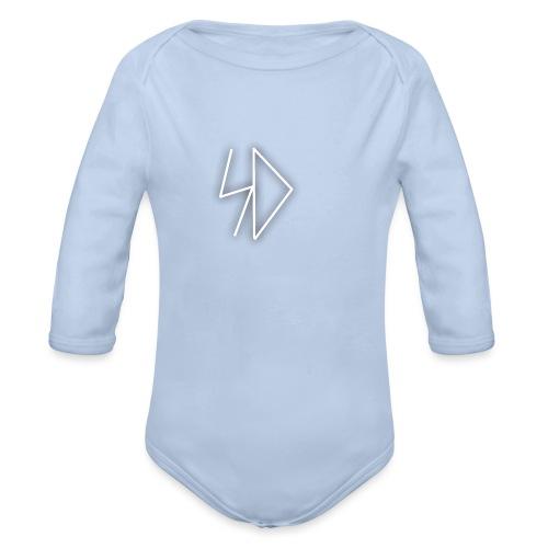 Sid logo white - Organic Long Sleeve Baby Bodysuit