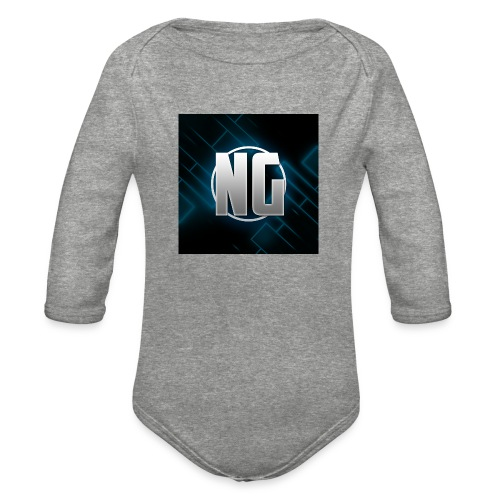 NadhirGamer Merch - Organic Long Sleeve Baby Bodysuit