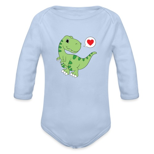 Dinosaur Love - Organic Long Sleeve Baby Bodysuit