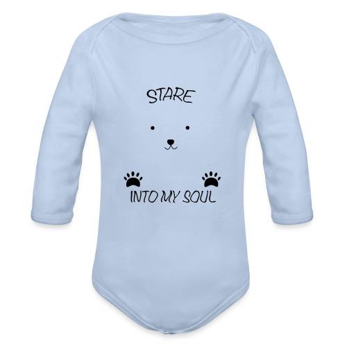 Polar Bear Stare - Organic Long Sleeve Baby Bodysuit