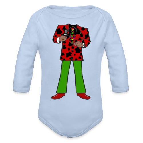 The Red Cow Suit - Organic Long Sleeve Baby Bodysuit