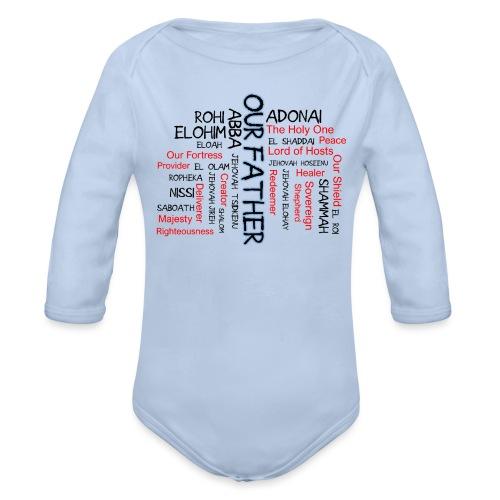 Names of God - Organic Long Sleeve Baby Bodysuit