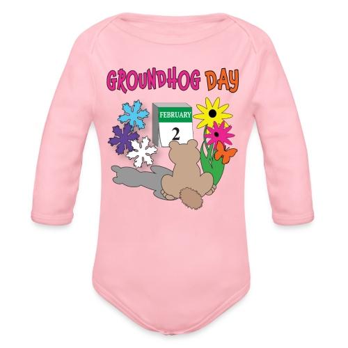 Groundhog Day Dilemma - Organic Long Sleeve Baby Bodysuit