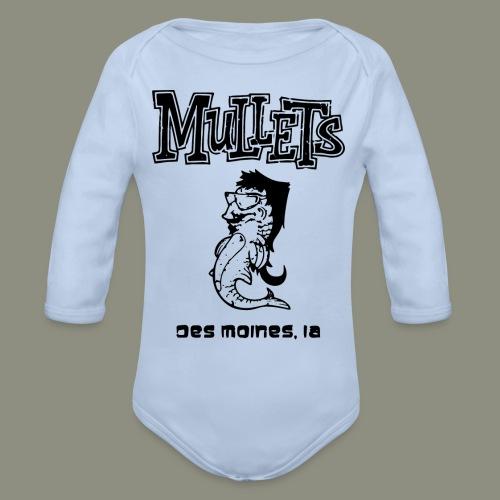 mulletmain black - Organic Long Sleeve Baby Bodysuit