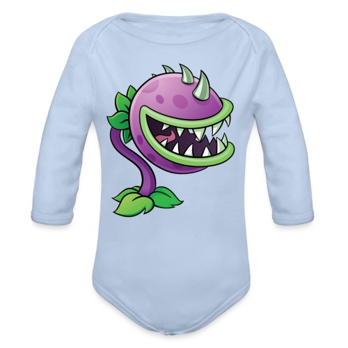 Jakes logo - Organic Long Sleeve Baby Bodysuit