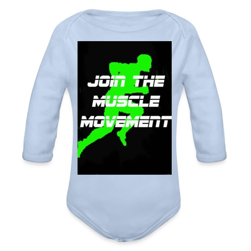 muscle movement - Organic Long Sleeve Baby Bodysuit
