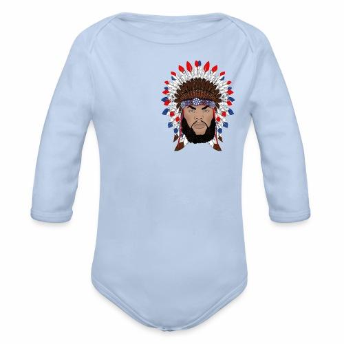 Dane Calloway American Indian Logo - Organic Long Sleeve Baby Bodysuit