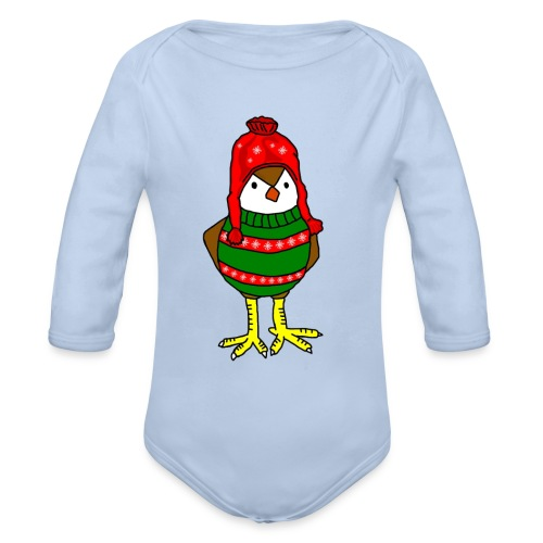 Christmas Chick - Organic Long Sleeve Baby Bodysuit