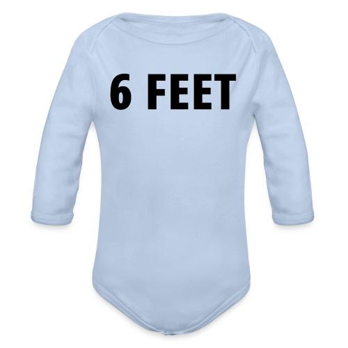 6 FEET - Social Distancing Mask & Shirt - Organic Long Sleeve Baby Bodysuit