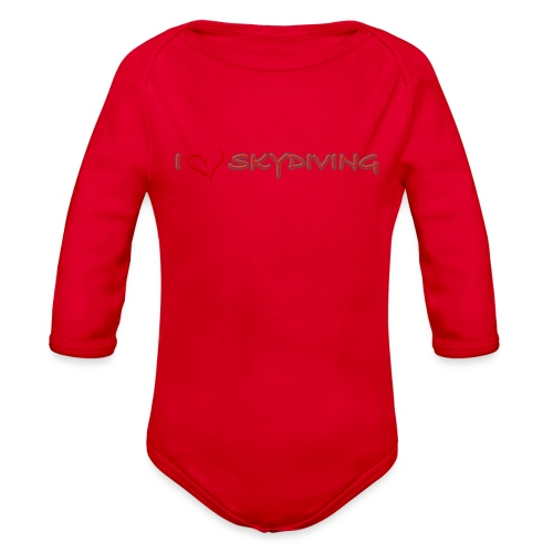 I love skydiving T-shirt/BookSkydive - Organic Long Sleeve Baby Bodysuit