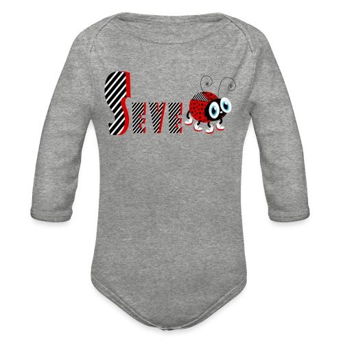 7nd Year Family Ladybug T-Shirts Gifts Daughter - Organic Long Sleeve Baby Bodysuit