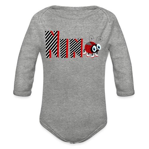 9nd Year Family Ladybug T-Shirts Gifts Daughter - Organic Long Sleeve Baby Bodysuit