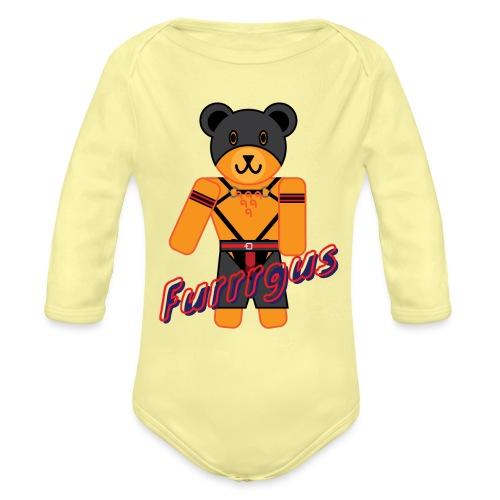 Leather Furrrgus - Organic Long Sleeve Baby Bodysuit