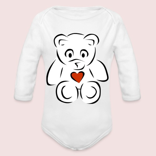 Sweethear - Organic Long Sleeve Baby Bodysuit