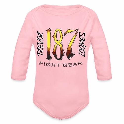 Coloured Trevor Loomes 187 Fight Gear Logo - Organic Long Sleeve Baby Bodysuit