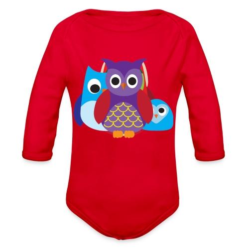 Cute Owls Eyes - Organic Long Sleeve Baby Bodysuit