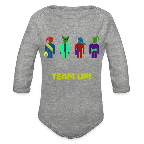 Spaceteam Team Up! - Organic Long Sleeve Baby Bodysuit