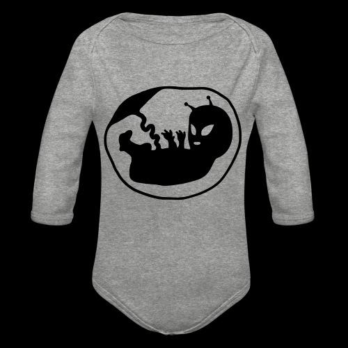 Alien Fetus by bmx3r - Organic Long Sleeve Baby Bodysuit