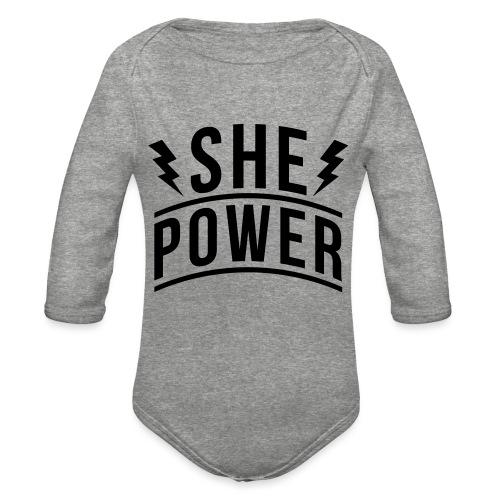 She Power - Organic Long Sleeve Baby Bodysuit