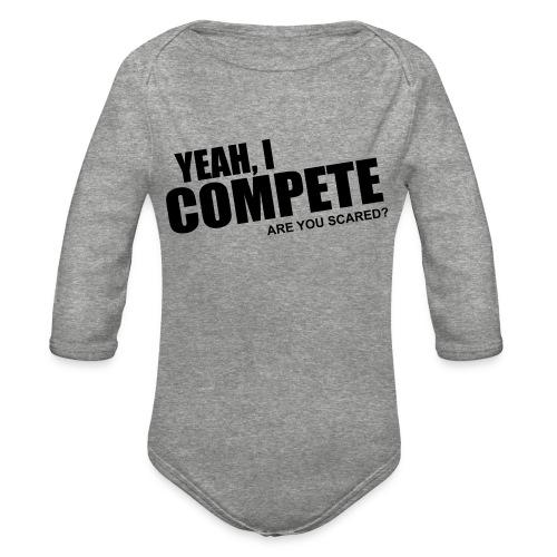 compete - Organic Long Sleeve Baby Bodysuit