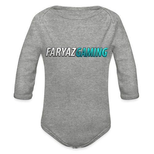 FaryazGaming Theme Text - Organic Long Sleeve Baby Bodysuit