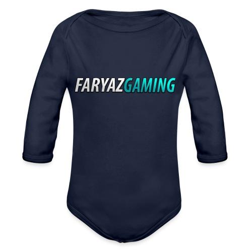 FaryazGaming Theme Text - Organic Long Sleeve Baby Bodysuit