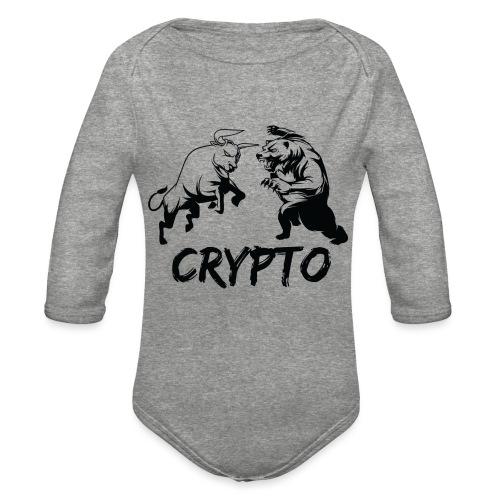 CryptoBattle Black - Organic Long Sleeve Baby Bodysuit
