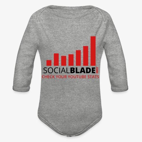 Traditional Logo Tagline - Organic Long Sleeve Baby Bodysuit