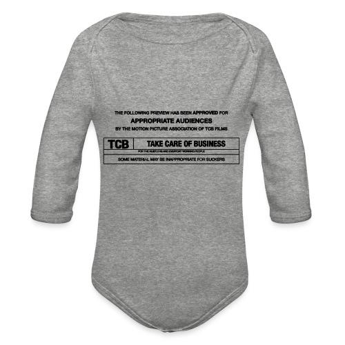 TCB Films Disclamer - Organic Long Sleeve Baby Bodysuit