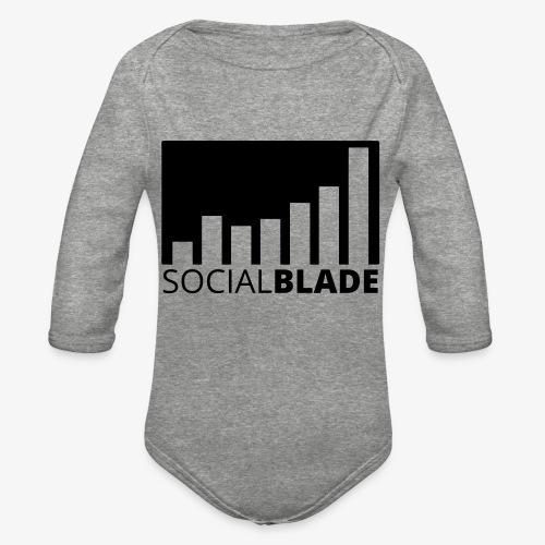 SB Blackout Logo - Organic Long Sleeve Baby Bodysuit