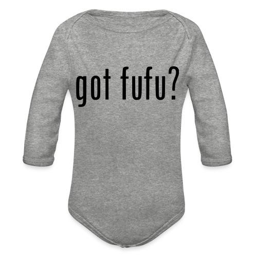 gotfufu-black - Organic Long Sleeve Baby Bodysuit