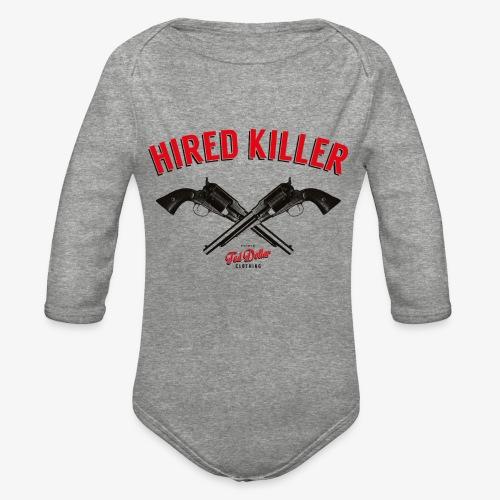Hired Killer - Organic Long Sleeve Baby Bodysuit