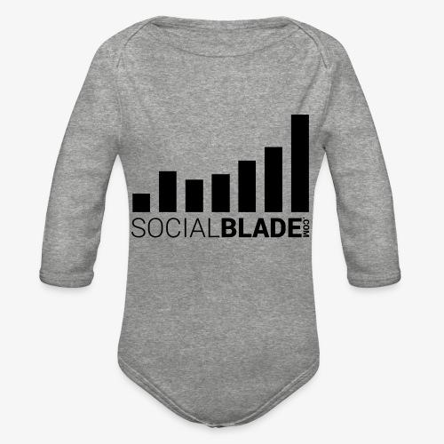 Socialblade (Dark) - Organic Long Sleeve Baby Bodysuit