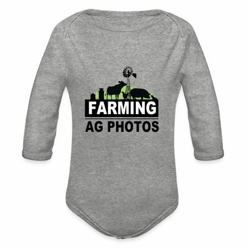 Farming Ag Photos - Organic Long Sleeve Baby Bodysuit