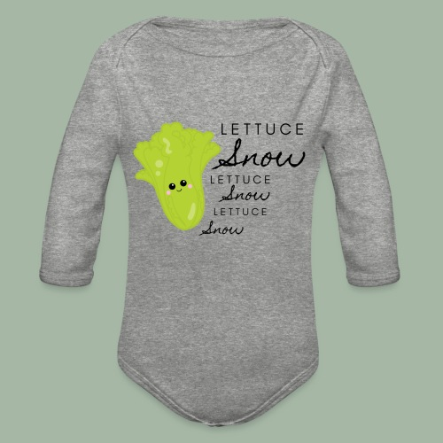 Lettuce Snow - Organic Long Sleeve Baby Bodysuit