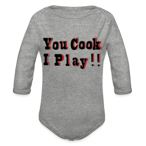 2D You Cook I Play - Organic Long Sleeve Baby Bodysuit